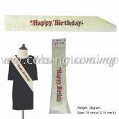 Happy Birthday Sash - Yellow (P-AC-HBY)