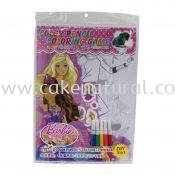 Colour Pencil Colouring Game - Barbie (T29-DB-028)