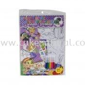 Colour Pencil Colouring Game - Fairy Tale (T29-DB-022)