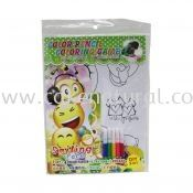 Colour Pencil Colouring Game - Smilling Face (T29-DB-020)