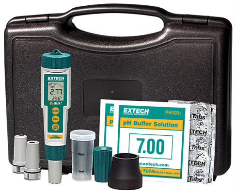 Extech EX900 ExStik® 4-in-1 Chlorine, pH, ORP and Temperature Kit