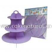 Cup Cake Stand *POLKA DOT LAVENDER (P-CS-PDLV)
