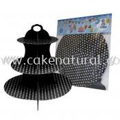 Cup Cake Stand *POLKA DOT BLACK (P-CS-PDBK)