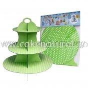 Cup Cake Stand *POLKA DOT LIME GREEN (P-CS-PDLG)
