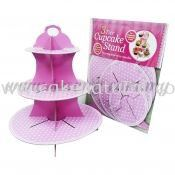Cup Cake Stand Polka Dot *BABY PINK (P-CS-PDBP)