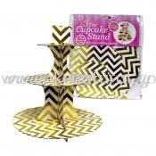 Cup Cake Stand ZigZag *Gold (P-CSZZ-GO)
