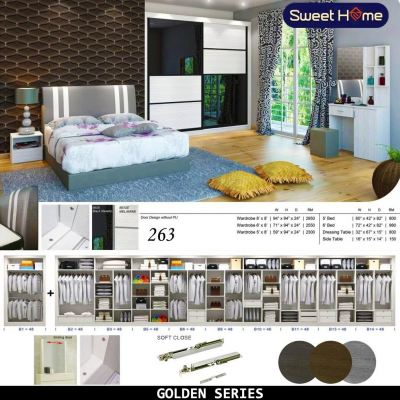 Golden Series Bedroom Set Set Almari 263