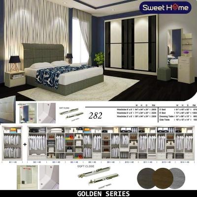 Golden Series Bedroom Set Set Almari 282