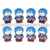 Doraemon Captain America Blue 8pcs (DC-DRM6)