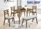 Set 1 Table + 1 Bench + 2 Chairs Dining Set DINNING ROOM