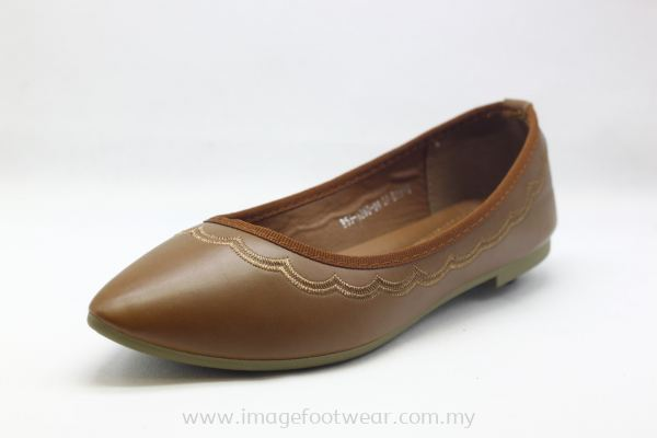 Lady Shoes with Fat Sole -TF-53-1280 BROWN Colour