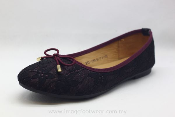 Lady Shoes with Fat Sole -TF-53-1284- MAROON Colour