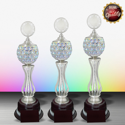 WS6087 - Exclusive White Silver Trophy With Crystal