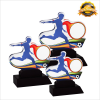 4148 Acrylic Plaque (Football) Soccer Trophy Trophy Series Trophy
