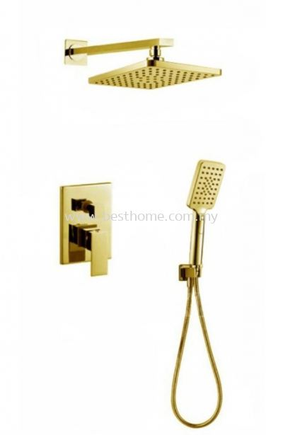 CONCEALED SHOWER SET - GOLD