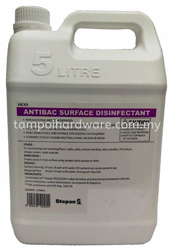 ANTIBAC SURFACE DISINFECTANT Detergent Hygiene and Cleaning Tools