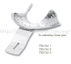 720/UU Impression  Tray For Edentulous Lower Jaws
