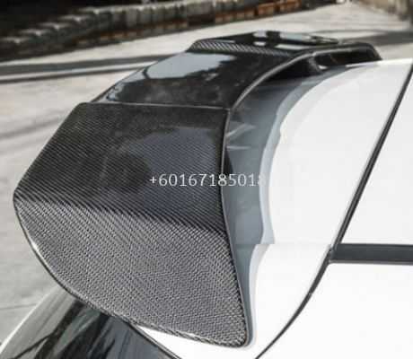 2018 2019 2020 2021 mercedes benz w177 rear spoiler a45 revozport style add on upgrade performance look real carbon fiber glass black material new set