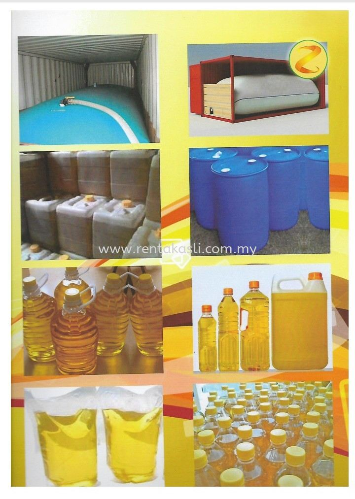 Various types of packaging for palm oil cooking oil
