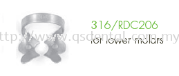 316/RDC206 Clamp Fig.206 For Lower Molars