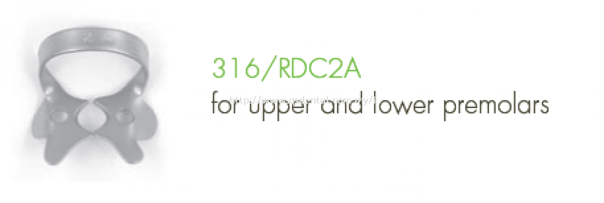 316/RDC2A Clamp Fig.2A For Upper and Lower Premolars