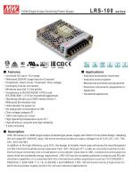LRS-100 Series Power Switching supply