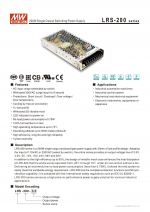 LRS-200 Series Power Switching supply