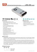 LRS-350 Series Power Switching supply