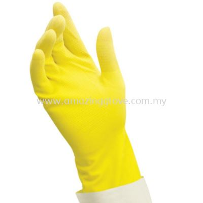 Caring Hands Rubber Gloves ( Yellow )