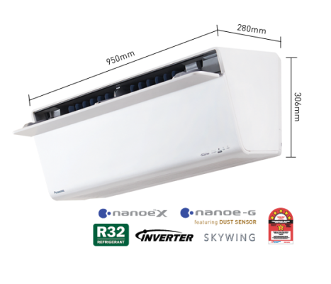 1.0HP Elite Inverter Sky Series Air Conditioner CS-VU10UKH-1 (CU-VU10UKH-1)