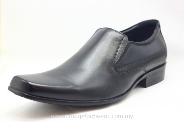 GENWEAR Full Leather Extra Size Men Shoe- LM-1065- BLACK Colour  **Extra Size