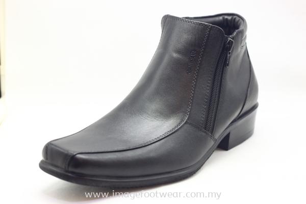 GENWEAR Full Leather Men Shoe- LM-2071- BLACK Colour