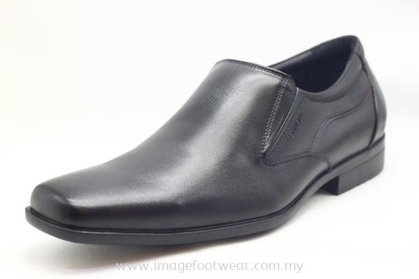 GENWEAR Full Leather Men Shoe- LM-1001- BLACK/MAROON Colour