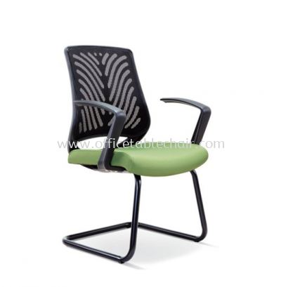 INSIST VISITOR MESH CHAIR WITH EPOXY BLACK CANTILEVER BASE ASE 2627