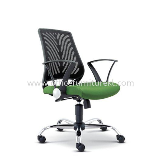 INSIST LOW BACK ERGONOMIC MESH CHAIR WITH CHROME METAL BASE ASE 2621