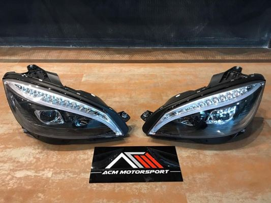 Mercedes benz W204 Projector W/LED + Light Bar Headlamp (W205 style)