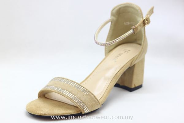 Lady Fashion Sandal with 2 Inch Heel - TF- 529-4- APRICOT Colour