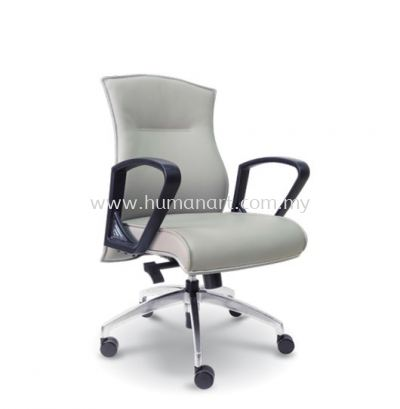 DICKY DIRECTOR LOW BACK LEATHER CHAIR WITH CHROME TRIMMING LINE
