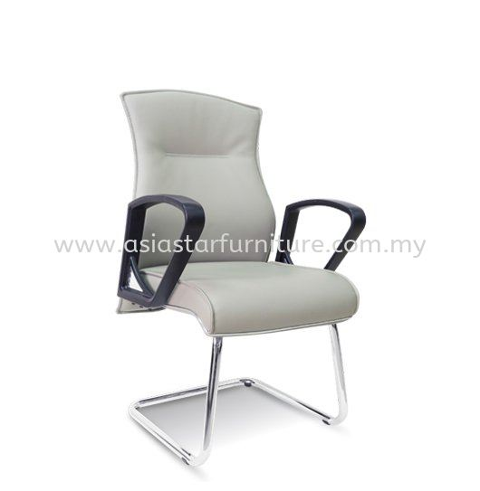 DICKY DIRECTOR VISITOR LEATHER OFFICE CHAIR WITH CHROME TRIMMING LINE-- director office chair subang 2 | director office chair setia alam | director office chair jalan ipoh