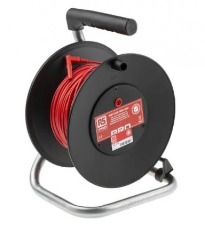 125-3745 - RS PRO Red Test Lead Extension Reel, 50m Cable Length