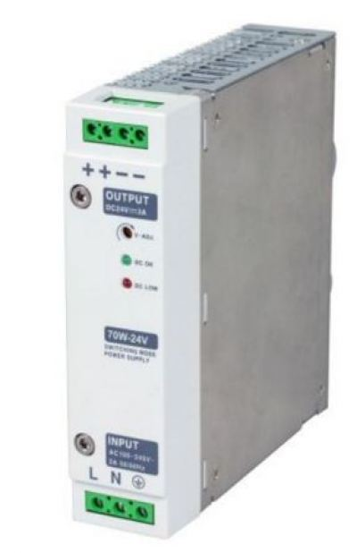 Din RAIL Power Supply, ac-dc, 120W, 1 Output 5A at 24Vdc