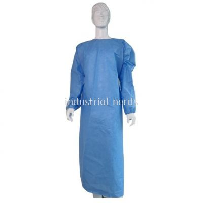 SMS Surgical Reinforce Gown Sterile with Hand Towel, 47 gsm Light Blue