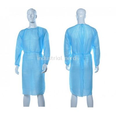 PP Isolation Gown, 30 gsm Light Blue