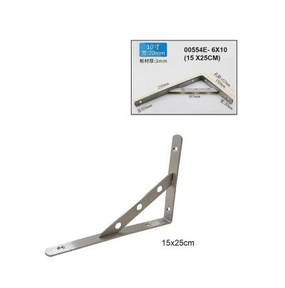 6X10  (15.0 X25.0CM) 3MM  S/STEEL BRACKET -00554E