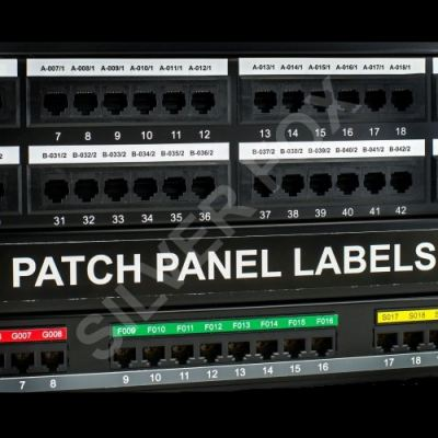 Prolab® Self-adhesive Patch Panel Labels