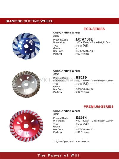 CUTTING DISC / GRINDING DISC / DIAMOND BLADE