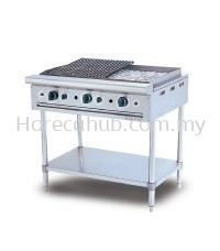 STAINLESS STEEL CHAR ROCK BROILER (CRB3BFS)