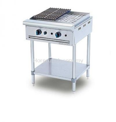 STAINLESS STEEL CHAR ROCK BROILER (CRB2BFS)