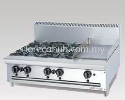 STAINLESS STEEL COMBINATION OPEN BURNER GRIDDLE (OB4GG1B)