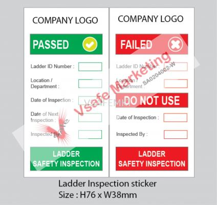 Ladder Inspection Self Adhesive PP Syntactic Paper ( Set Of 2).